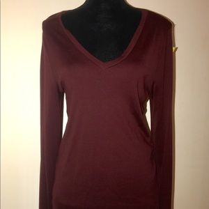 """Burgundy """"classic fit"""" long sleeve tee from J.Crew"""